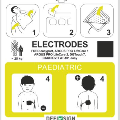 Electrodes pédiatriques pour défibrillateur DefiSign