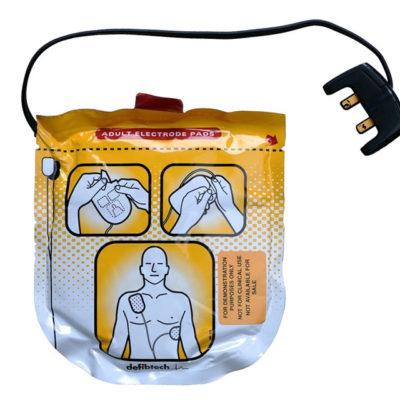 Electrodes pour défibrillateur Defibtech Lifeline View