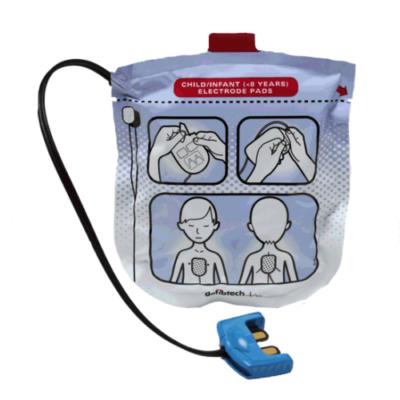 Electrodes pédiatriques pour défibrillateur Defibtech Lifeline View