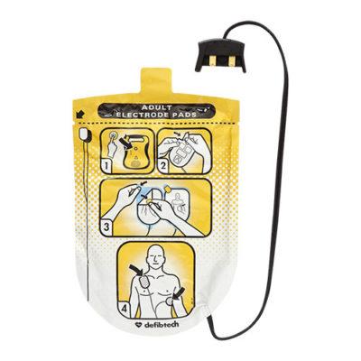 Electrodes pour défibrillateur Defibtech Lifeline