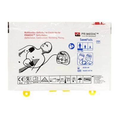 Electrodes pour défibrillateur Metrax-Primedic Hearsave