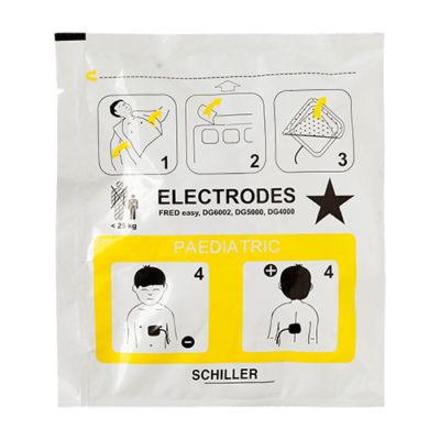 Electrodes pédiatriques pour défibrillateur Schiller Fred Easy Life