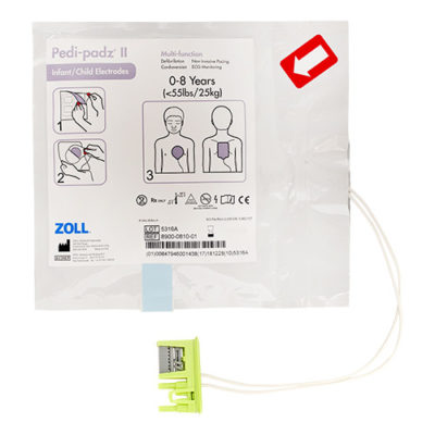 Electrodes pédiatriques de formation pour défibrillateur Zoll AED PEDI