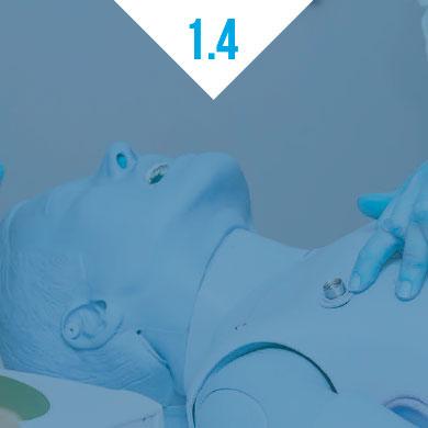 1.4. Formation au massage cardiaque et à l'utilisation d'un défibrillateur
